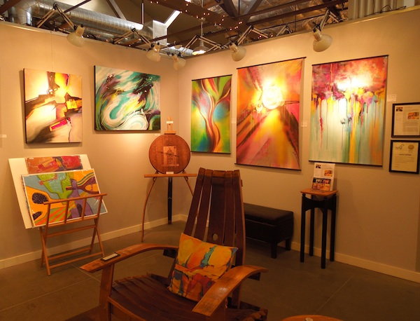 A corner of Laure Carlisle's studio at Studios on the Park, November 9, 2013