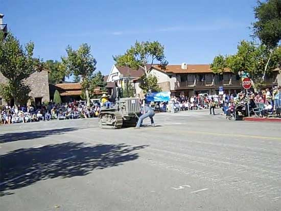 Disabled Tractor at Pioneer Day Parade